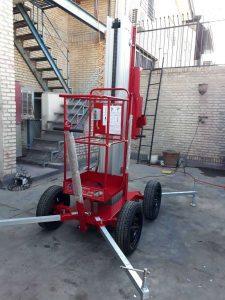 بالابر نفربر هیدرولیک تک ریل با چرخ خودرویی